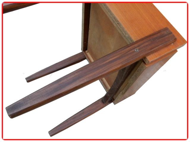 Table chevet vintage scandinave teck