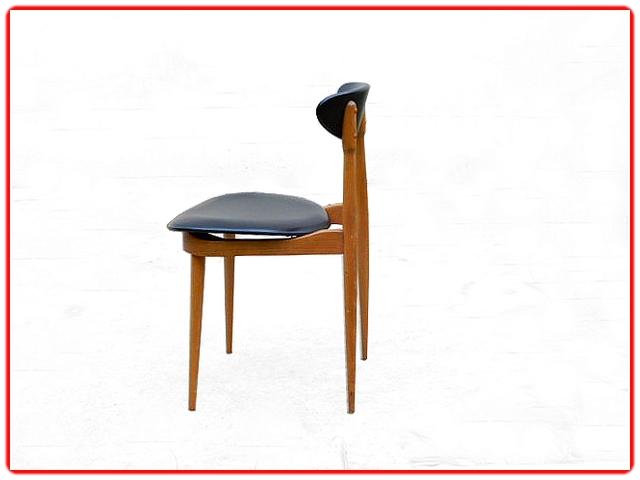 Chaises Baumann Licorne vintage 1960