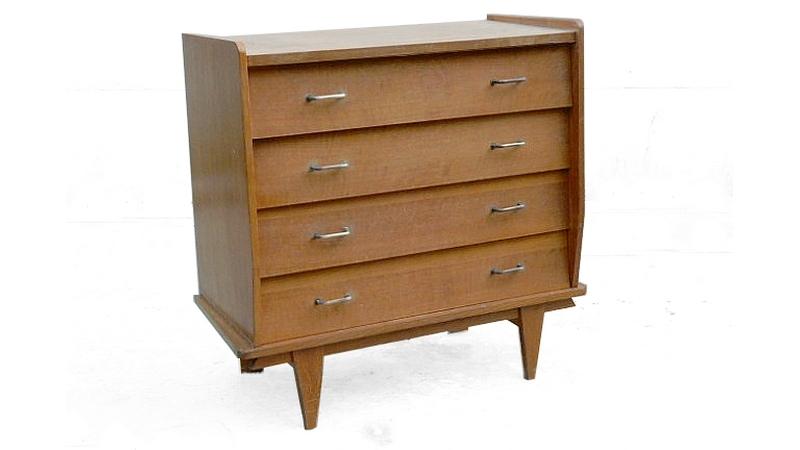 Commode vintage 1950 bois clair doré