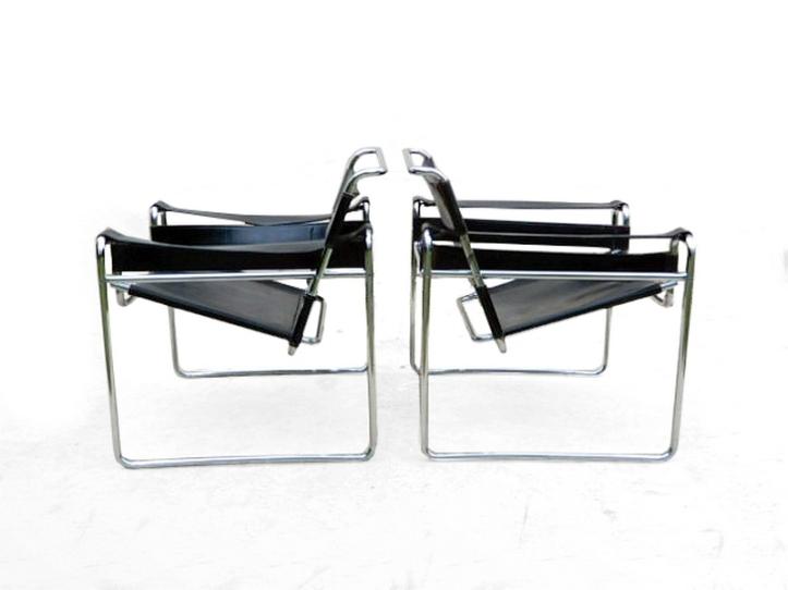 2 fauteuils Wassily Breuer design 1960