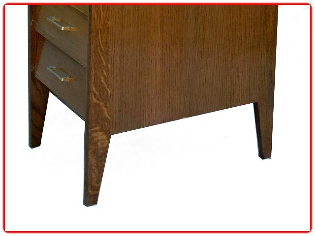 Bureau vintage chêne 1970