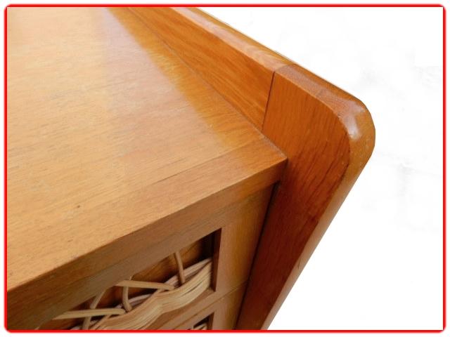 Chiffonnier en rotin 6 tiroirs vintage