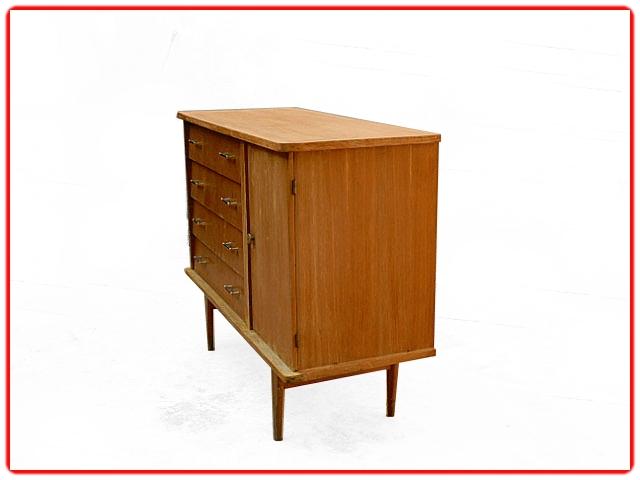 Commode vintage 1950 bois clair