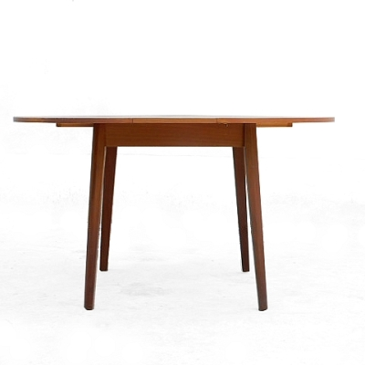 Table en teck vintage scandinave 1950 extensible