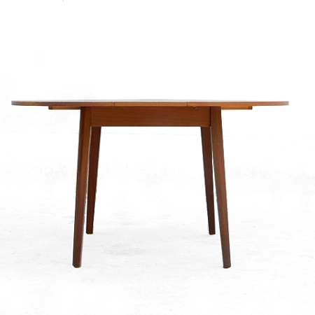 Table en teck vintage scandinave 1950 extensible