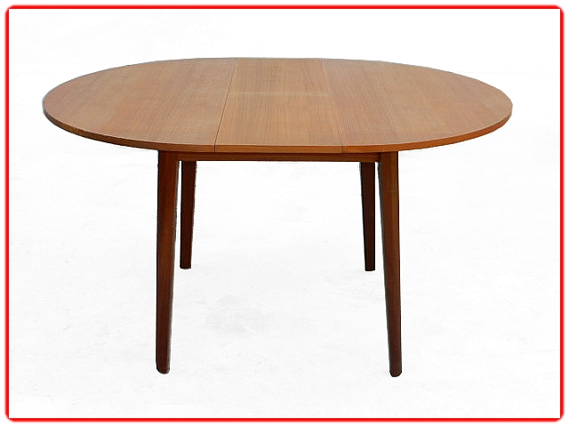 Table ronde extensible scandinave teck