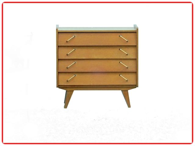 commode vintage 1960 bois clair