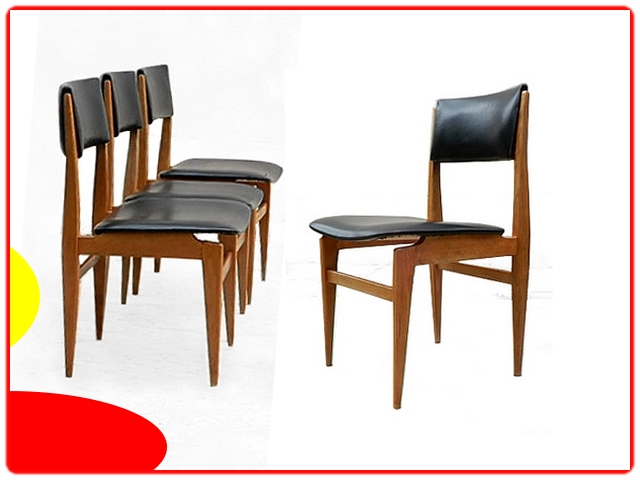 Chaises en teck scandinave vintage