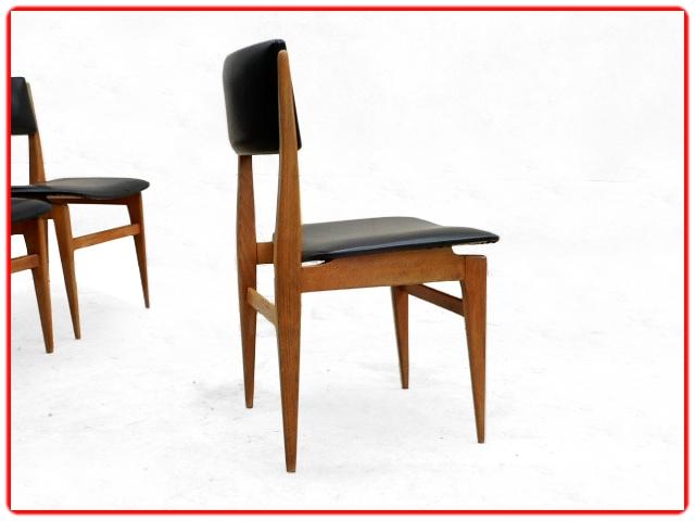 Chaises vintage scandinave teck 1960
