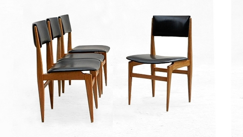 4 Chaises scandinaves vintage 1960 teck