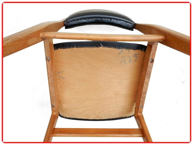 Chaises teck scandinave vintage 1960