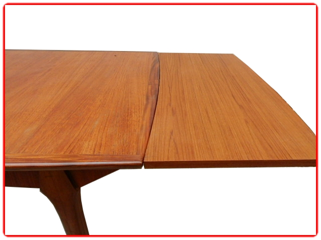 Table à manger extensible scandinave vintage
