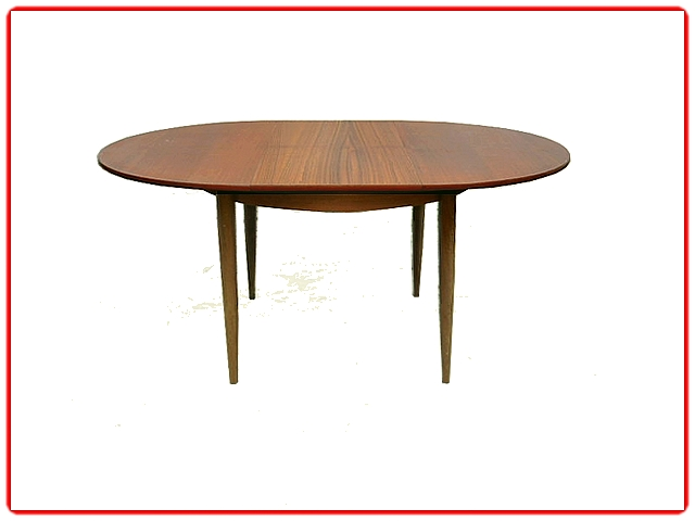 Table de repas ronde avec rallonge