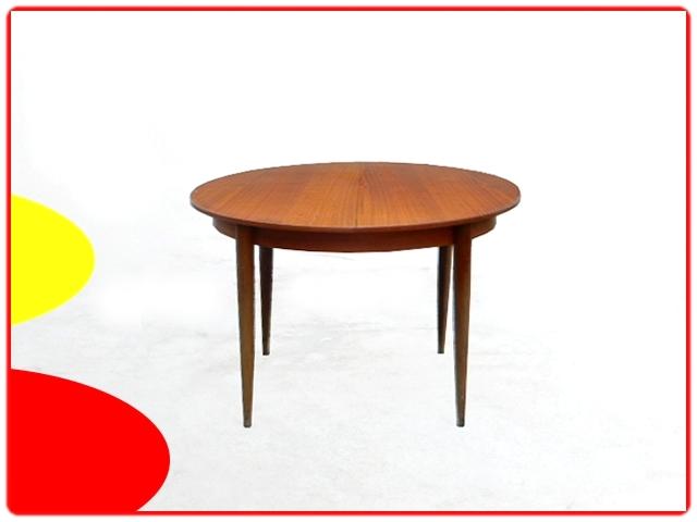 table à manger ronde avec rallonge