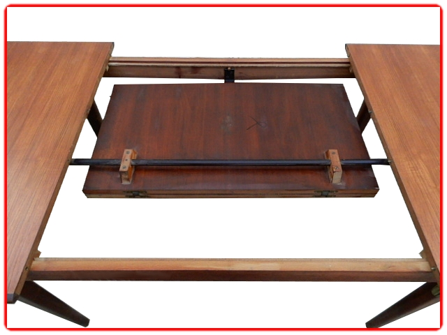 Table vintage scandinave teck extensible