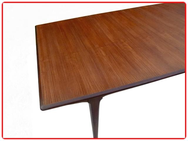 Table scandinave teck avec rallonge