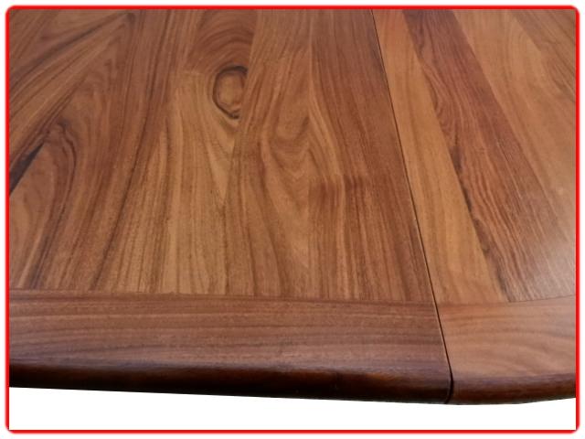 table scandinave à rallonge palissandre
