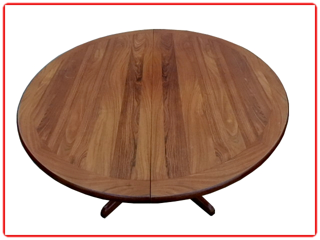 table de repas ronde en palissandre scandinave