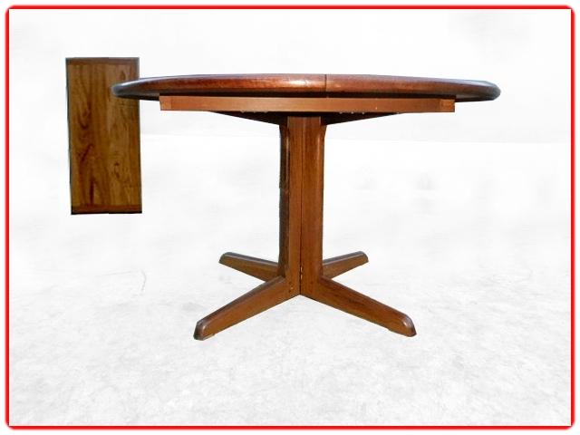 table de repas ronde palissandre scandinave