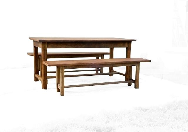 Table de ferme et ses 2 bancs