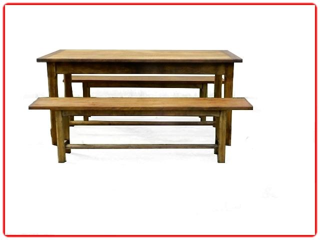 Table et 2 bancs de ferme