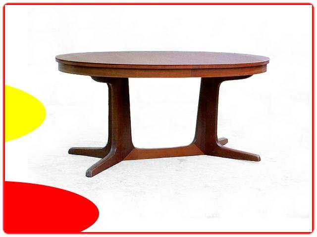 Table Baumann ovale vintage 1960
