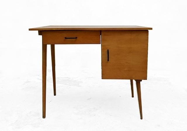 Bureau Baumann vintage bois clair