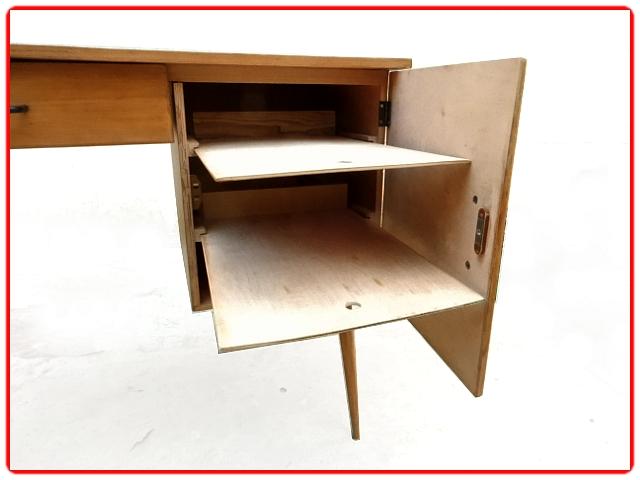 Bureau d'écolier Bauman vintage bois clair