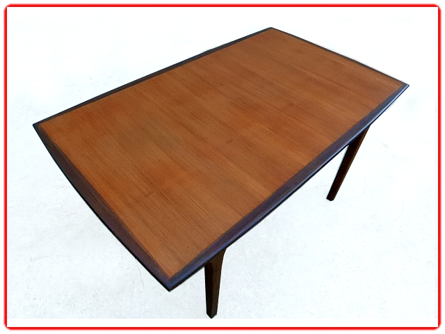 table salle à manger extensible scandinave teck