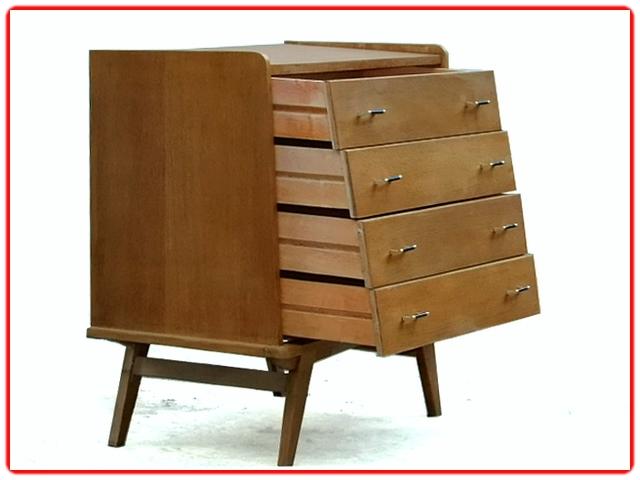 Commode vintage bois doré clair