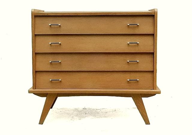 Commode vintage bois design incliné