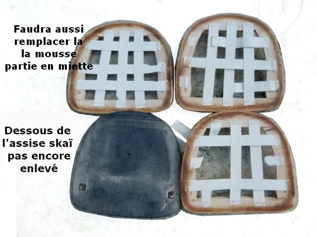 Rénovation chaises vintage scandinave anciennes