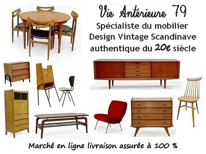 Meubles vintage design et scandinave d'occasion rénovés