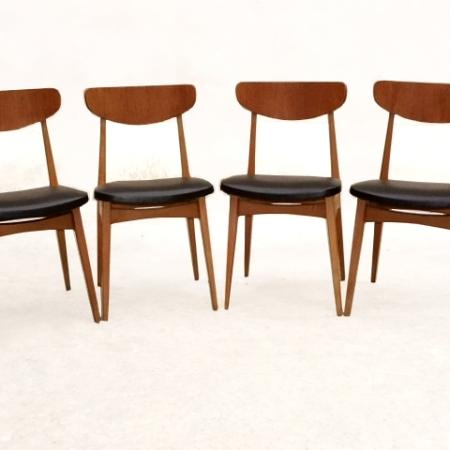 Chaises design scandinave vintage 1960 teck rénovées