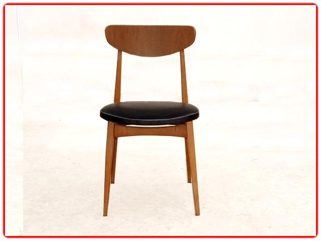 Chaises teck scandinave vintage 1960 rénovées