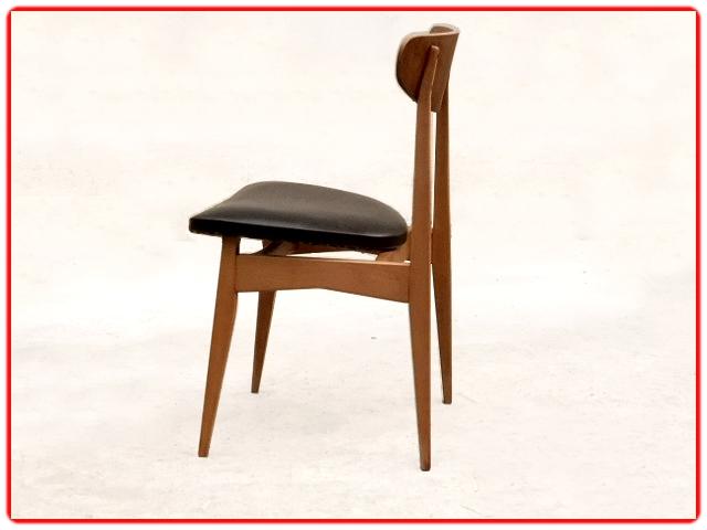 Chaises design scandinave en teck et hêtre