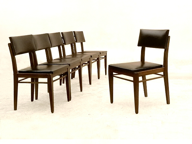 Chaises vintage occasion bois et skaI