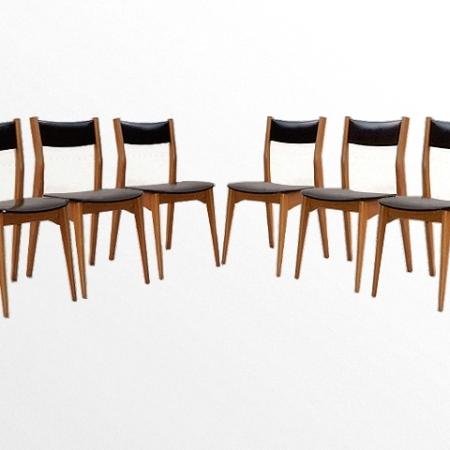 6 chaises scandinave vintage 1960