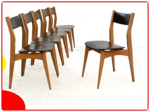 Chaises vintage scandinave de salle à manger