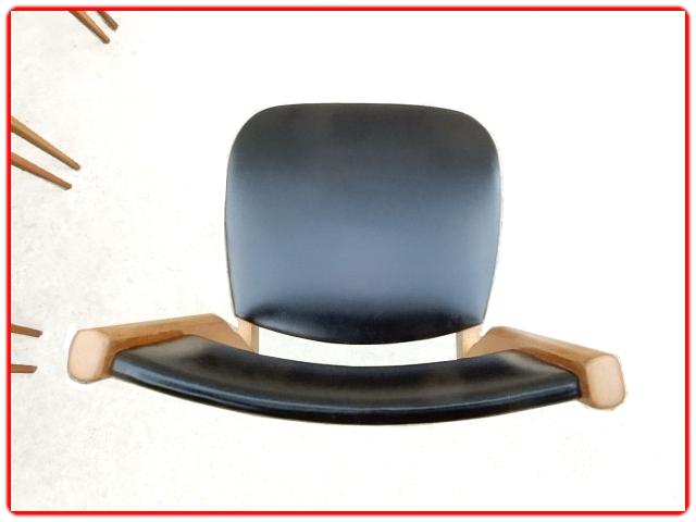 Chaises vintage scandinave skai et hêtre