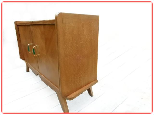 Buffet meuble tv vintage bois 1950