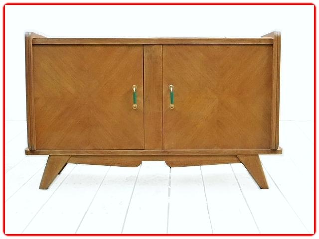 Buffet meuble tv bois massif vintage