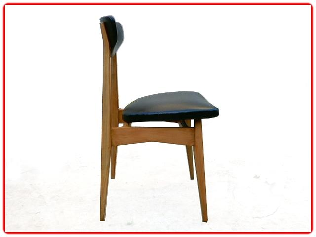 Set de 4 chaises vintage scandinave 1960