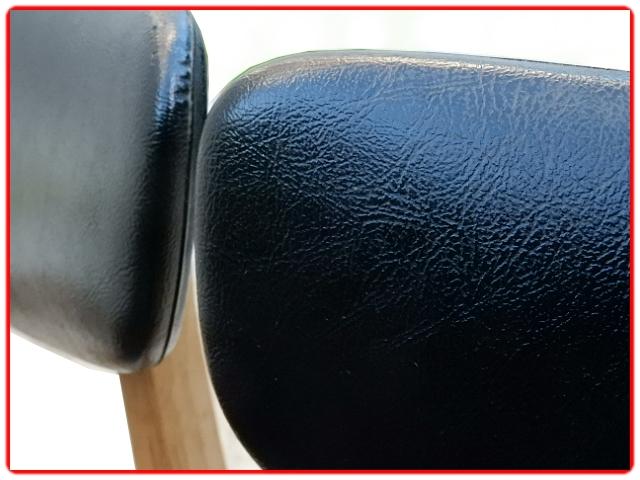 Chaises vintage skai noir