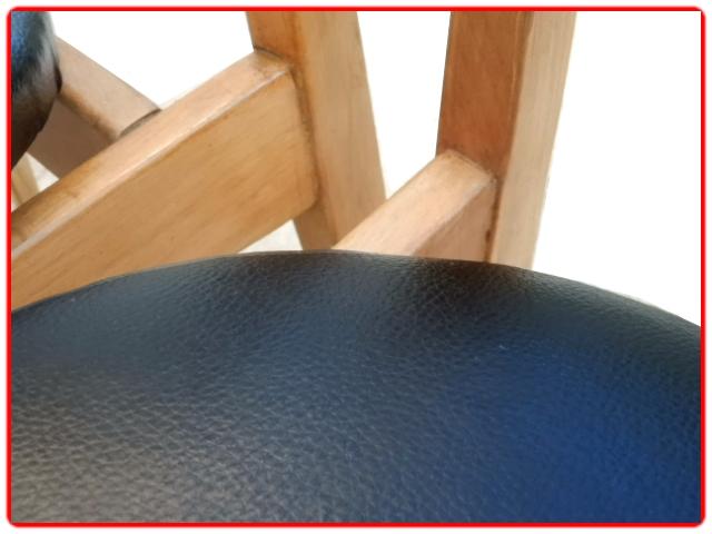Chaises scandinave vintage en skaï noir