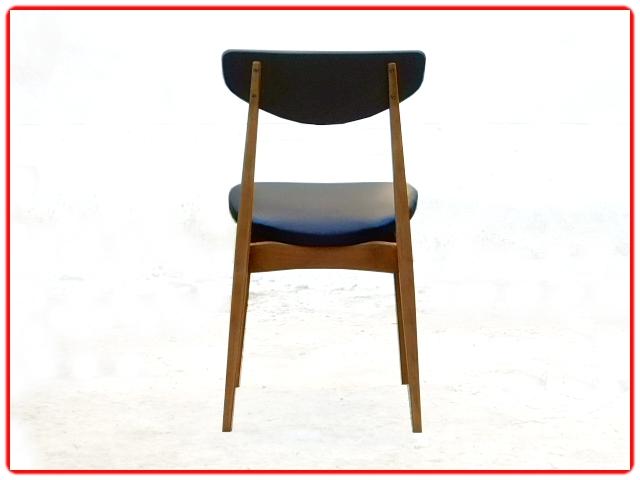 4 chaises scandinave vintage bois clair skaï