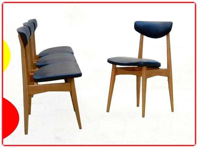 Chaises vintage scandinave retapisser