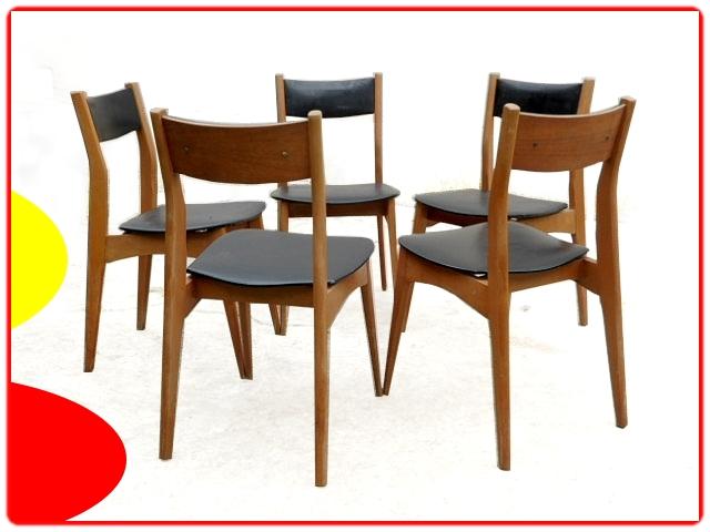 Chaises vintage scandinave rénovées