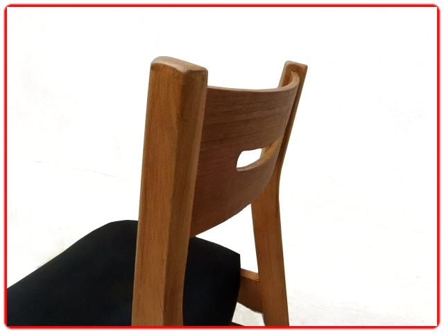 Chaises rénovées vintage scandinave teck skai