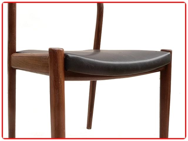 chaises en palissandre scandinave 1960